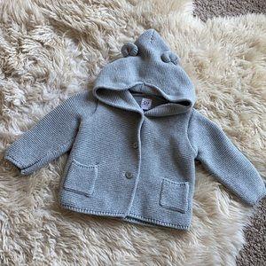 Baby GAP knit bear hoodie